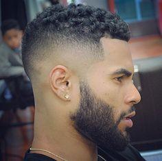 Short Afro haircut